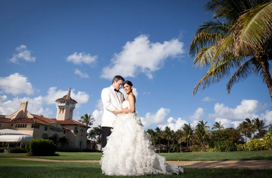 Palm Beach wedding ceremony at Mara Lago.