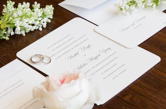 Wedding invitation from the Mandarin Oriental in Miami.