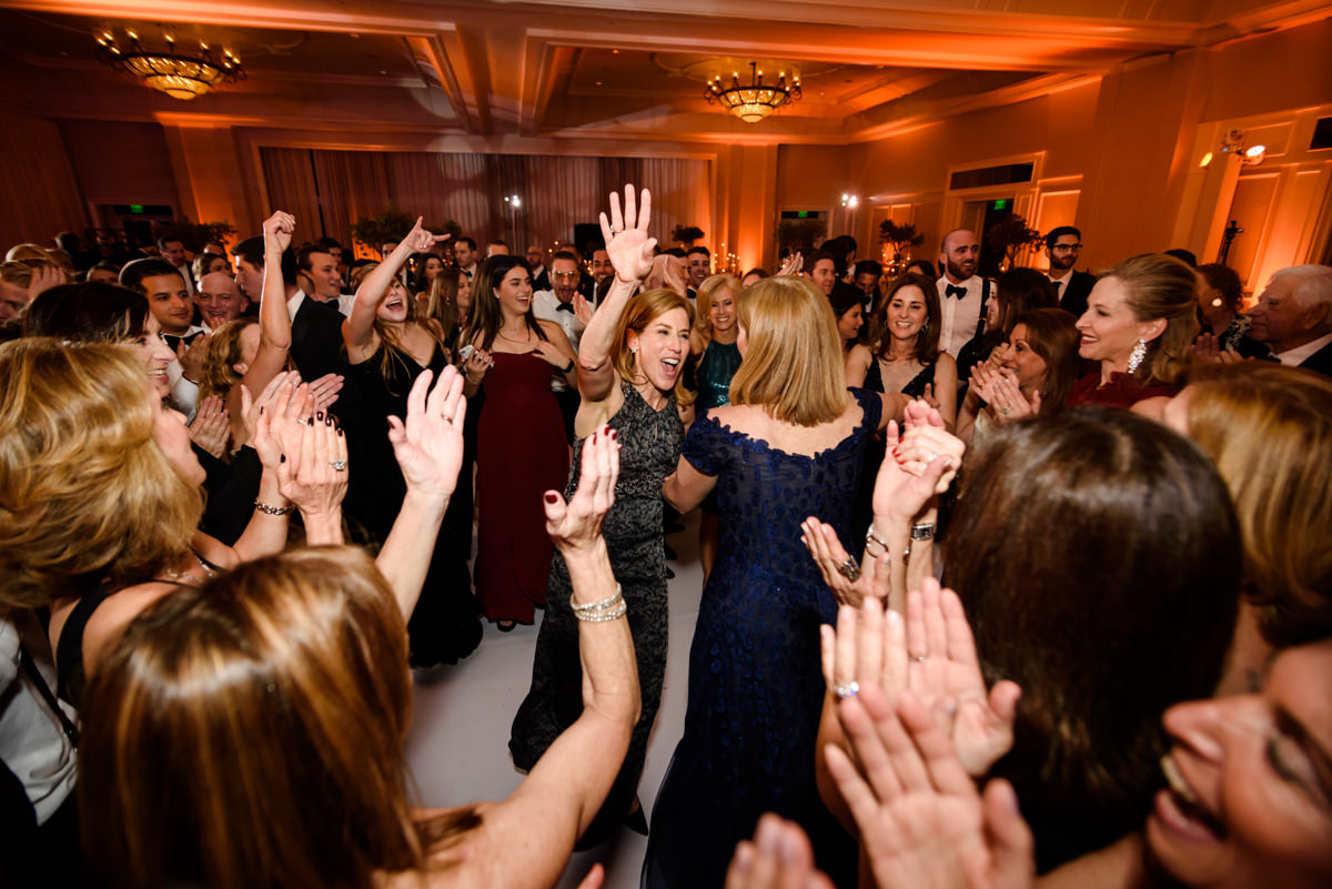 Mothers of the bride and groom dance at the Ritz Carlton on Key Biscayne.
