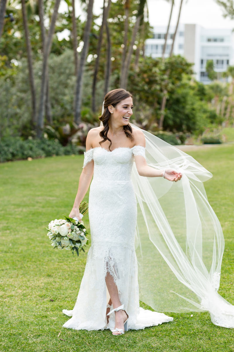 Bridal portrait at wedding at the Ritz Carlton in Key Biscayne.