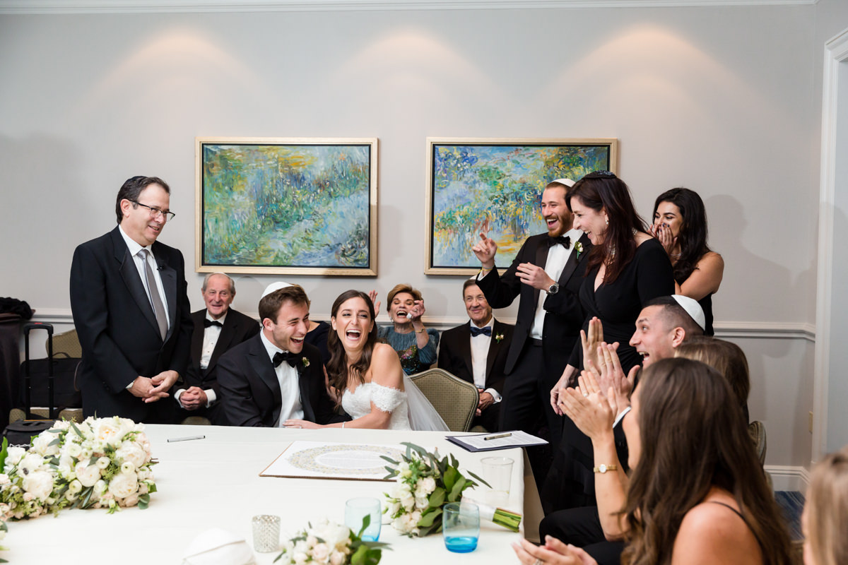 Jewish wedding ketubah signing ceremony at the Ritz Carlton in Key Biscayne.