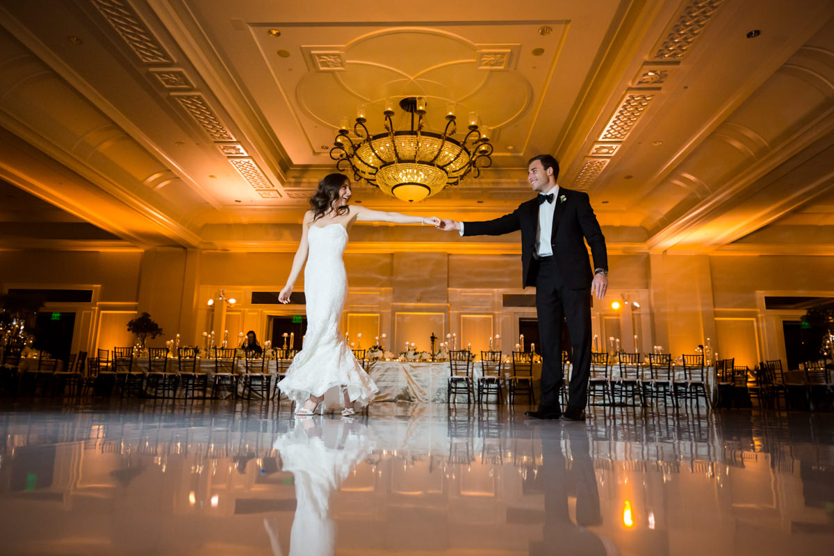 A white dance floor at the Ritz Carlton on Key Biscayne.
