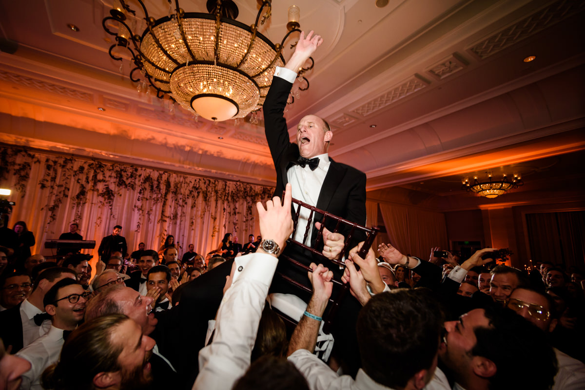 Father of groom during the hora at the Ritz Carlton on Key Biscayne.